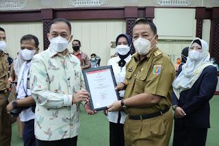 PTPN VII Terima Penghargaan Pendonor Terbaik Dimasa Pandemi