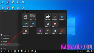 Gambar ilustrasi tampilan jendela start menu di windows 10