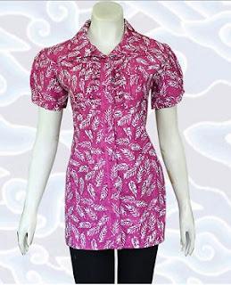 Model Baju Batik Kantor untuk Wanita Terbaru
