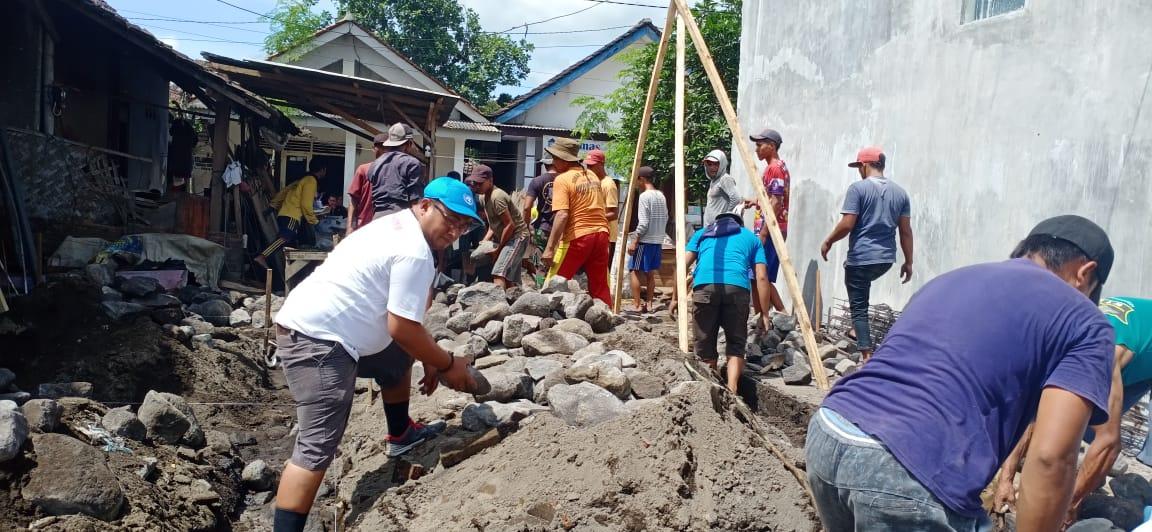 Dapat Bantuan Baznas, Rumah Warga Desa Jarit Mulai Dibangun