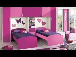 ديكورات جبس غرف نوم اطفال سريرين جميلة 2021