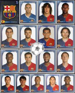 Panini Champions League 2008/09 barcelona
