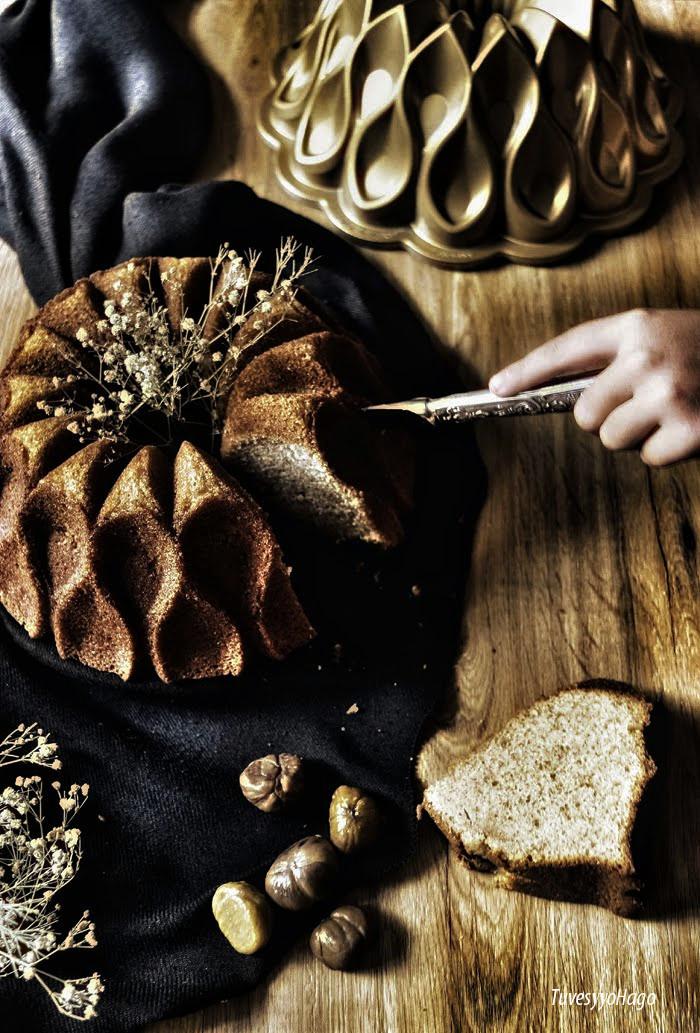Bundt Cake de Castañas - Chestnut Bundt Cake - TuvesyyoHago