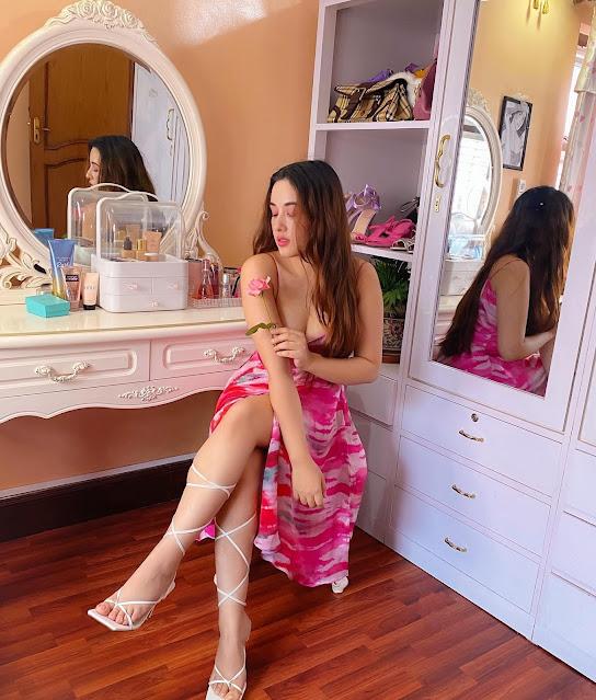 Aditi Budhathoki Latest Hot Pictures in Pink Skirt Actress Trend