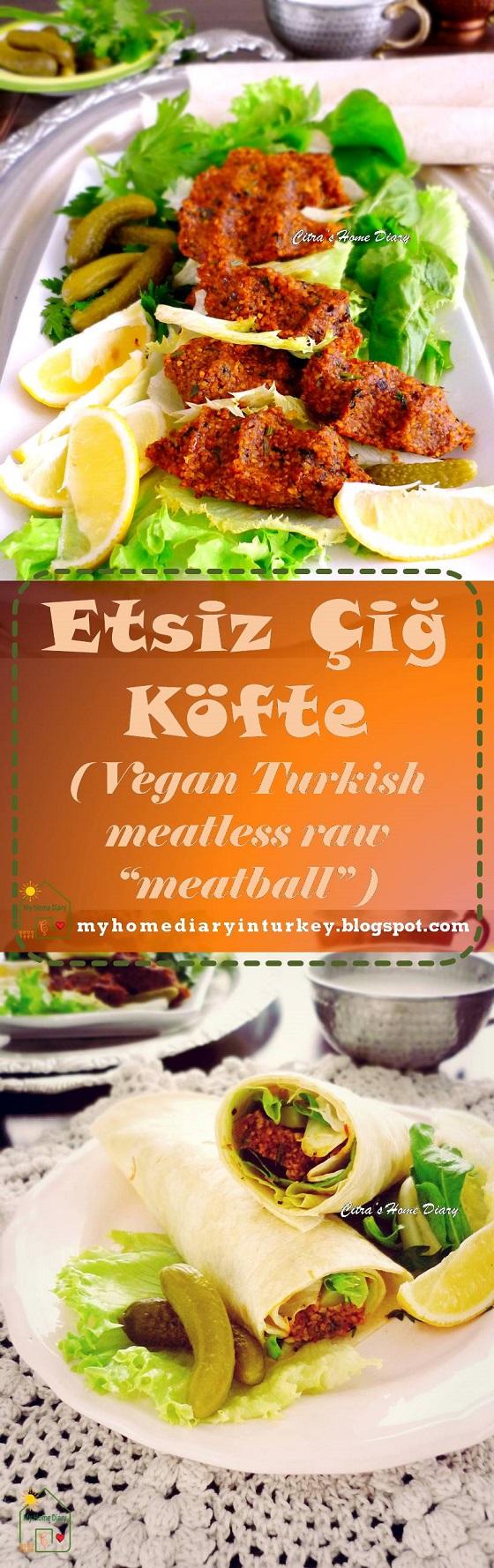 """Etsiz Çiğ Köfte / Turkish Meatless Raw  kofte """"meatball"""" . #turkishfood #veganrecipe #bulgur #kofte #cigkofte #turkishstreetfood"""