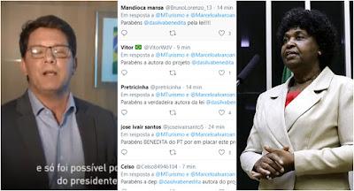 Mario Frias enaltece Bolsonaro e festeja lei criada por Benedita da Silva do PT