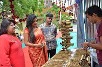 Sakshi Agarwal  in Orange Saree at Inauguration of Handloom And Handicraft exhibition ~  Exclusive 26.JPG