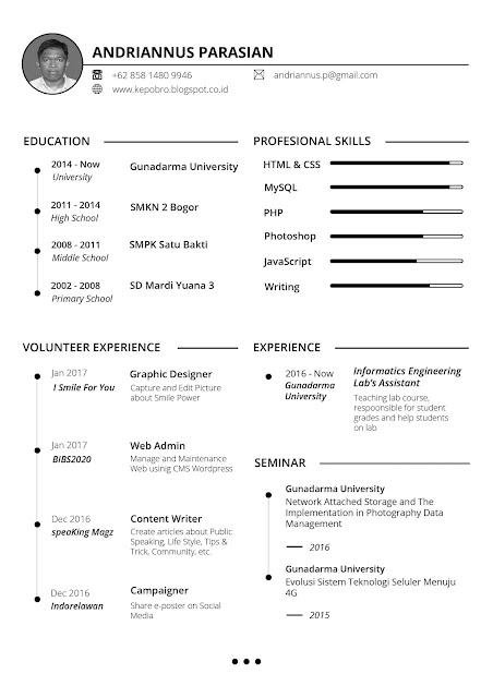 Contoh Curriculum Vitae (CV) Yang Menarik