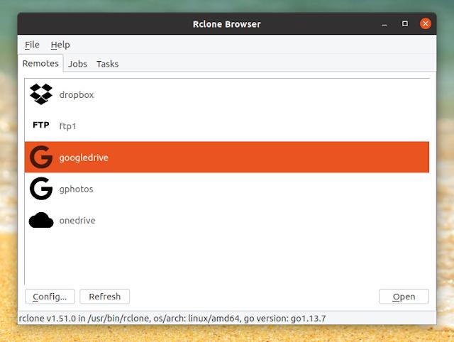 Rclone Tarayıcı çatal GUI Linux