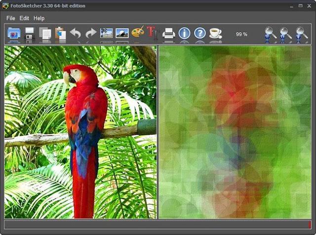 تحميل برنامج تحويل الصور الى كرتون FotoSketcher للكمبيوتر