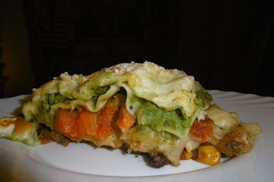 triple layer vegetarian lasagne