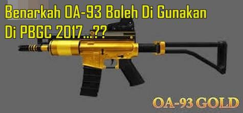 Kabar Gembira..!! OA-93 Boleh Digunakan Pada Turnamen PBGC 2017