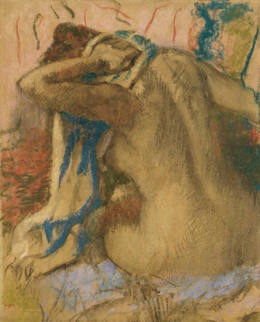 Эдгар Дега - Женщина, просушивающая свои волосы (1885)