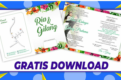 Download Desain Undangan Custom VIRAL Format Corel Draw .cdr