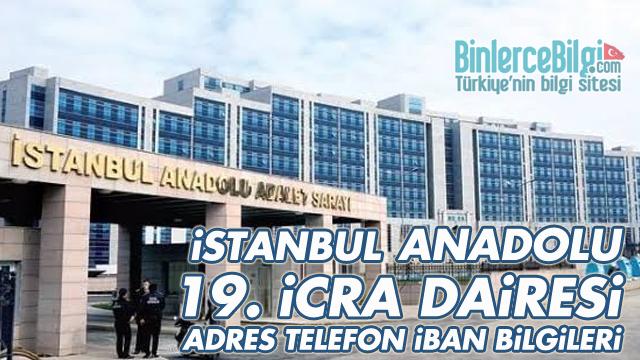 İstanbul Anadolu 19. İcra Dairesi Adresi, Telefonu, İBAN Numarası
