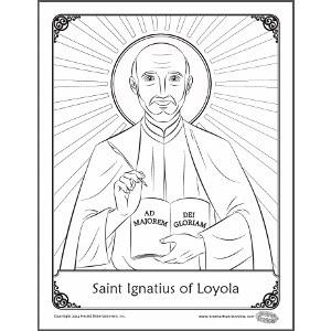 Catholic Faith Education: Coloring page: Saint Ignatius of
