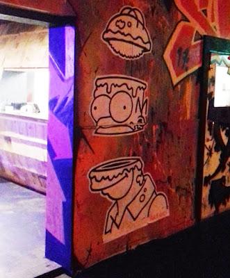 Homer Simpson graffiti at Ghetto Golf in Digbeth, Birmingham