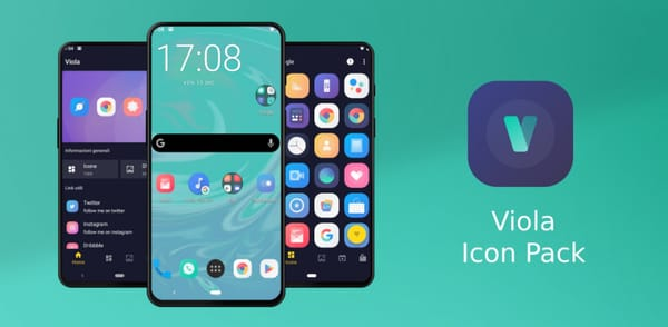 With the Viola Icon Pack app, your Android phone is similar to iOS