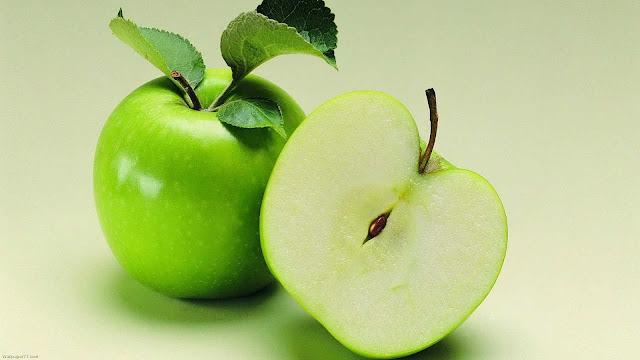 wallpaper gambar buah apel hijau
