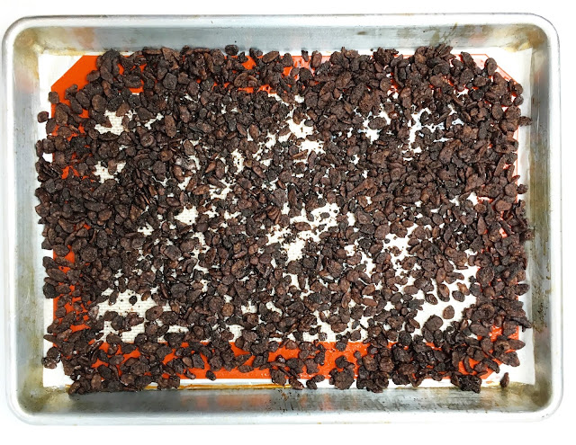 Assembling Mocha Cocoa Pebbles Brownies - Pebbles Layer