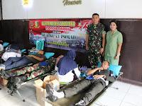 Peringati HUT ke-73 Pomad, Denpom Divif 2 Kostrad Gelar Donor Darah