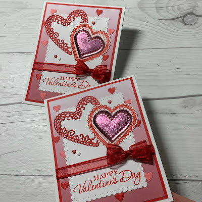 Valentine Card with Rococo Rose Love You Always Foil Sheet Heart