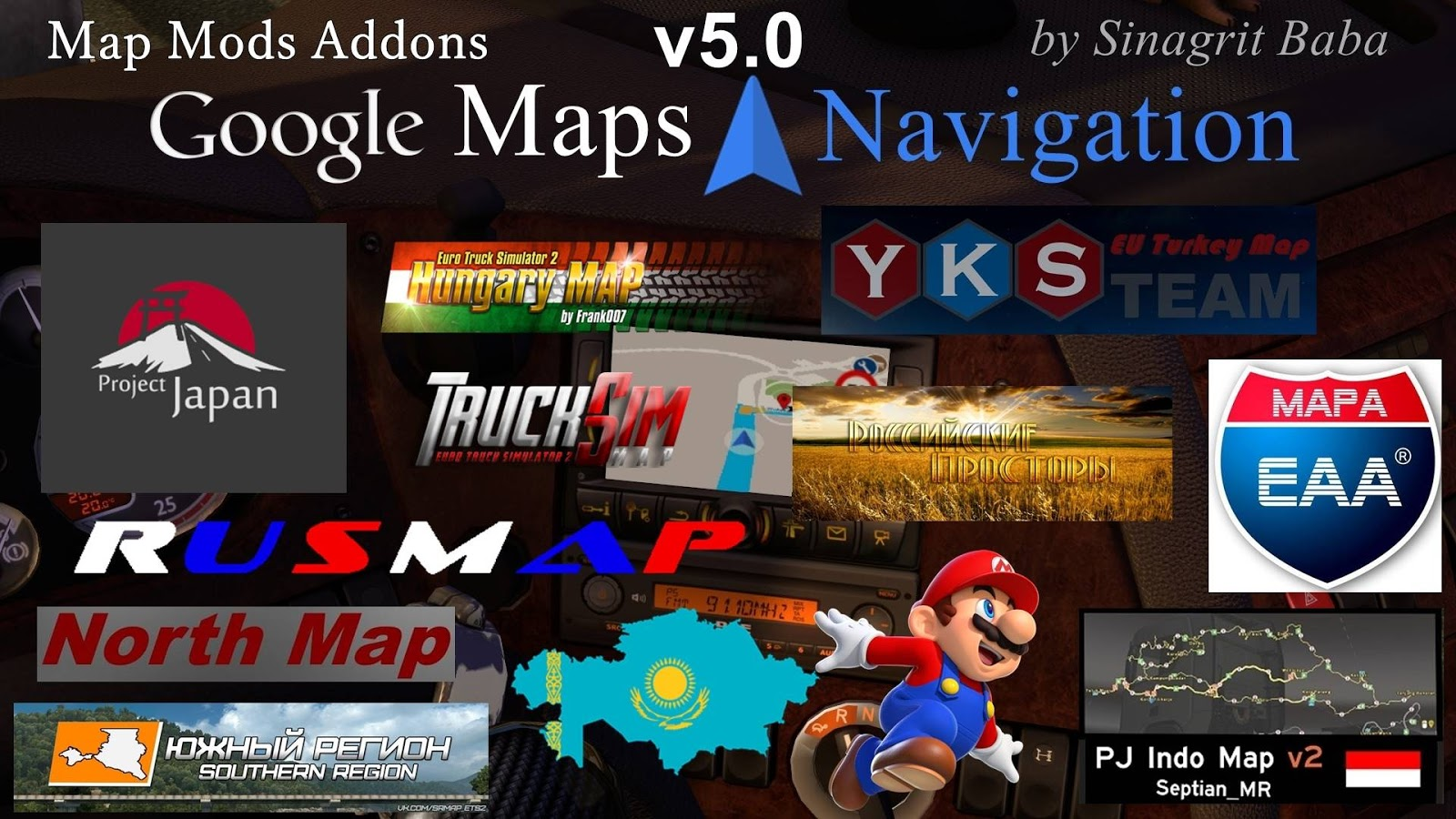 Sinagrit Baba's Workshop: ETS 2 - Google Maps Navigation