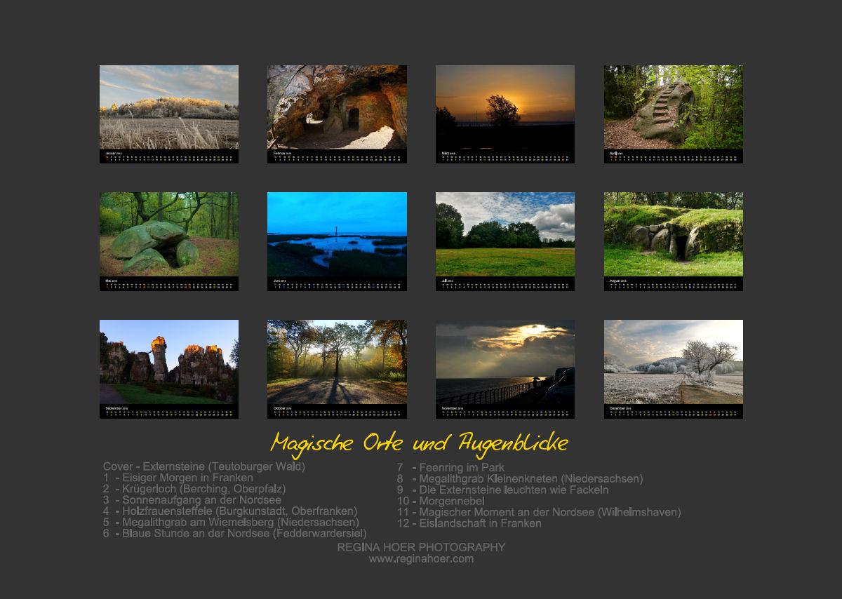 Kalender von Regina Hoer