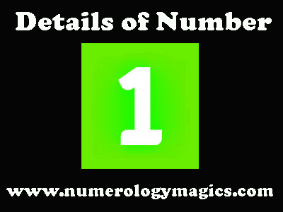 number 1 details in numerology by astrologer