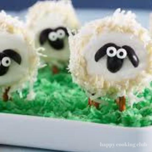 No-Bake Fluffy Marshmallow Sheep