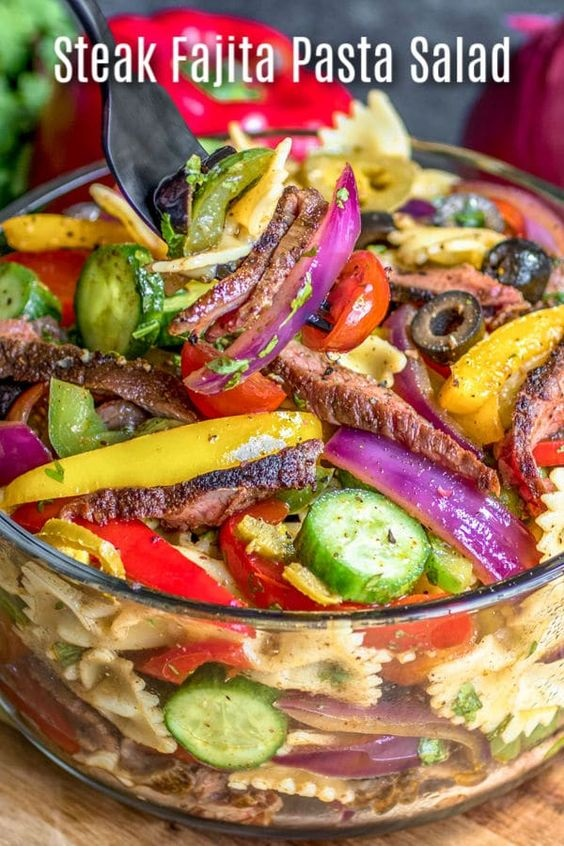 Steak Fajita Pasta Salad