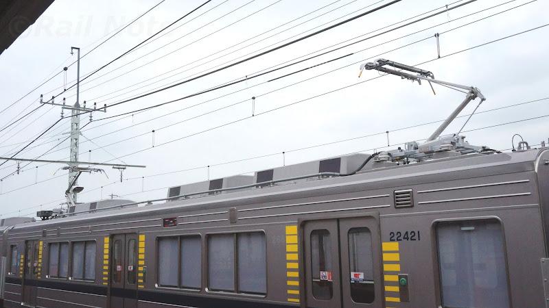 東武鉄道20400系パンタグラフ