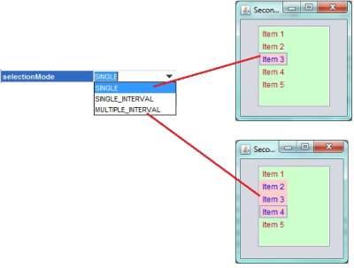 Selectionmode_of_jList_in_Java