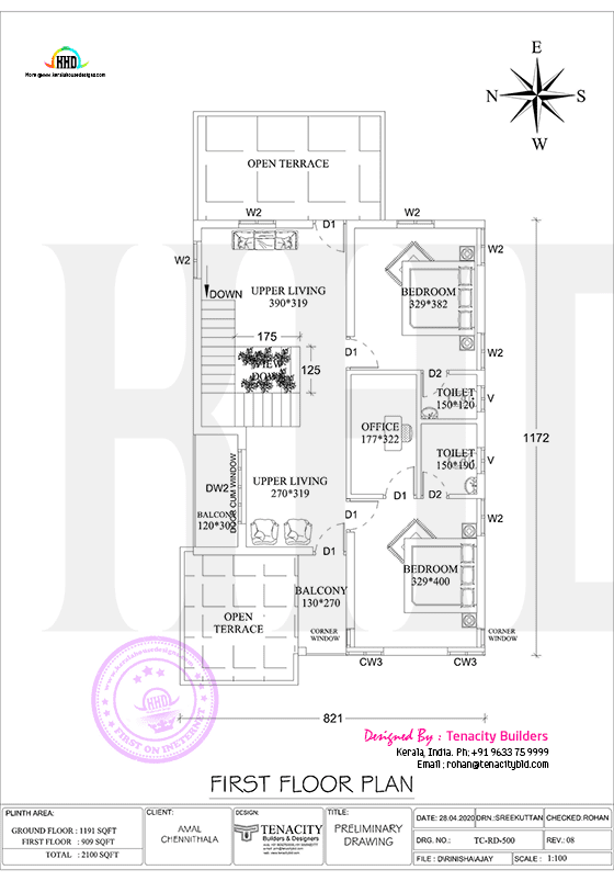 First floor plan of swish home