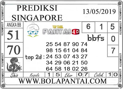 """Prediksi Togel """"SINGAPORE"""" PANTAI4D 13 MEI 2019"""