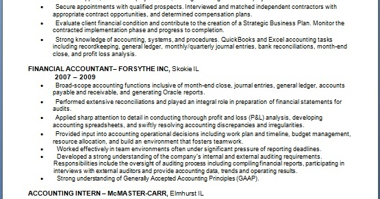 financial project consultant sample resume format in word