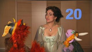 Isabel Leonard announces number 20 the Sesame Street sponsors with Murray and Ovejita. Sesame Street Episode 4326 Great Vibrations season 43