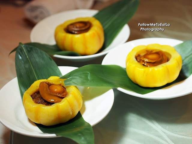 Fried Glutinous Rice With Whole Abalone in Pumpkin