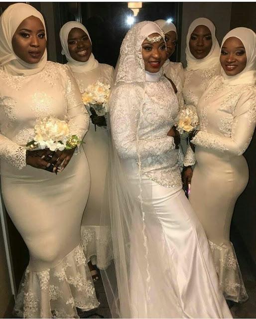 Lovely Muslim Bridal Train