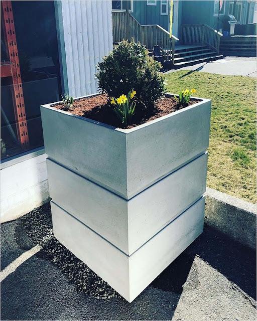 Concrete Garden Planters Home Interior Exterior Decor