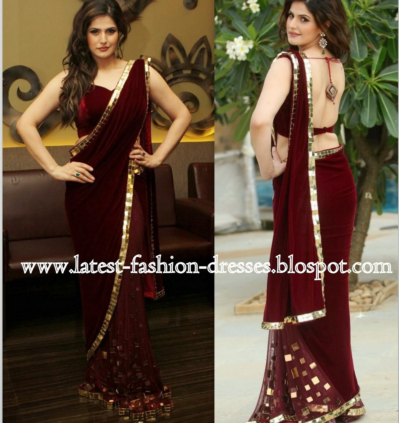 mirror border saree