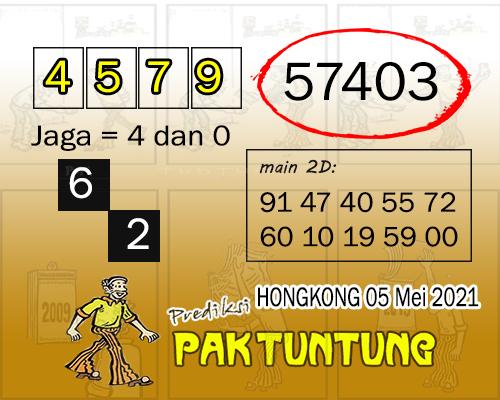 Syair HK Rabu 05 Mei 2021 -