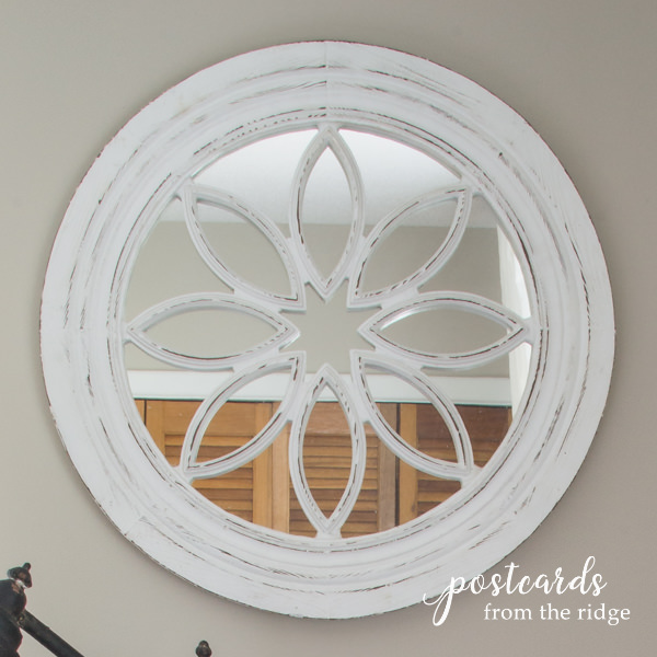 salvage window made into a mirror