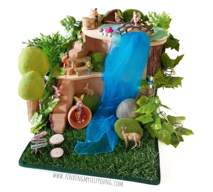 Fairy village and animal small world invitation to play.