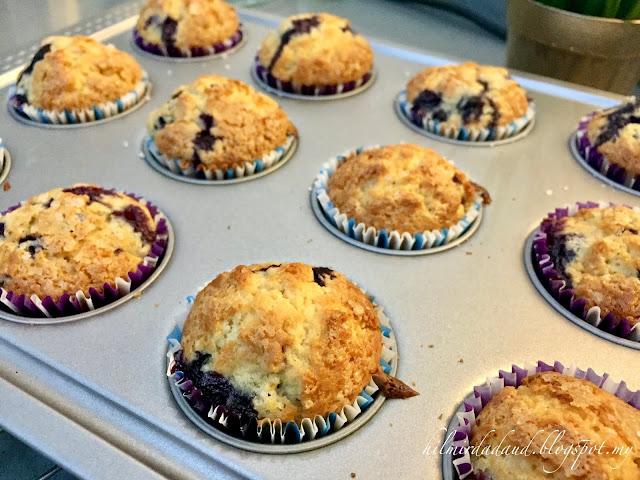 Resepi Blueberry Mufin - Cepat Dan Senang.