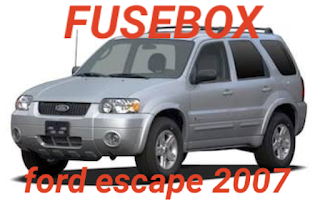 tempat box sekring  FORD escape 2007