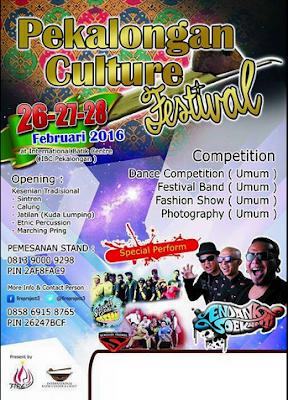 EVENT: Pekalongan | 26 – 28 Februari 2016 | Pekalongan Culture Festival 2016