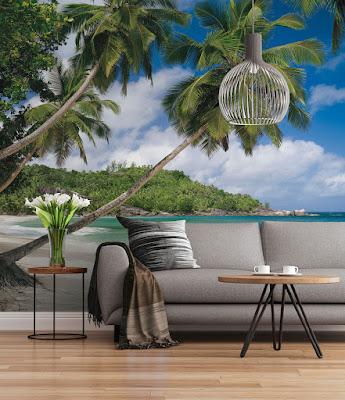 Fotomural Outlet de Playa con palmeras