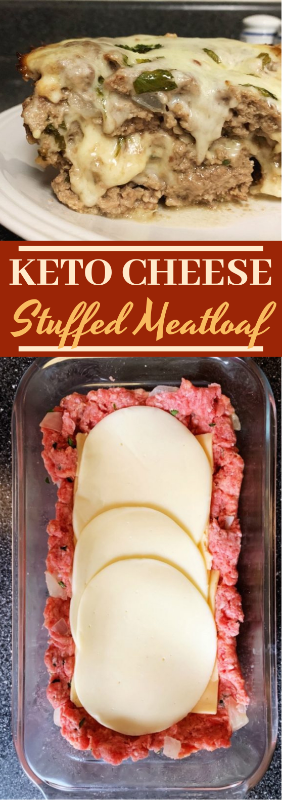 Keto Cheese Stuffed Meatloaf #keto #lowcarb