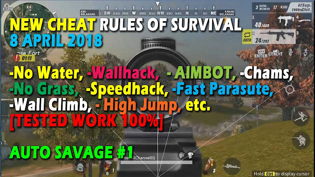 Cheat Rules of Survival Asparagin 7.0 Update 8 April 2018